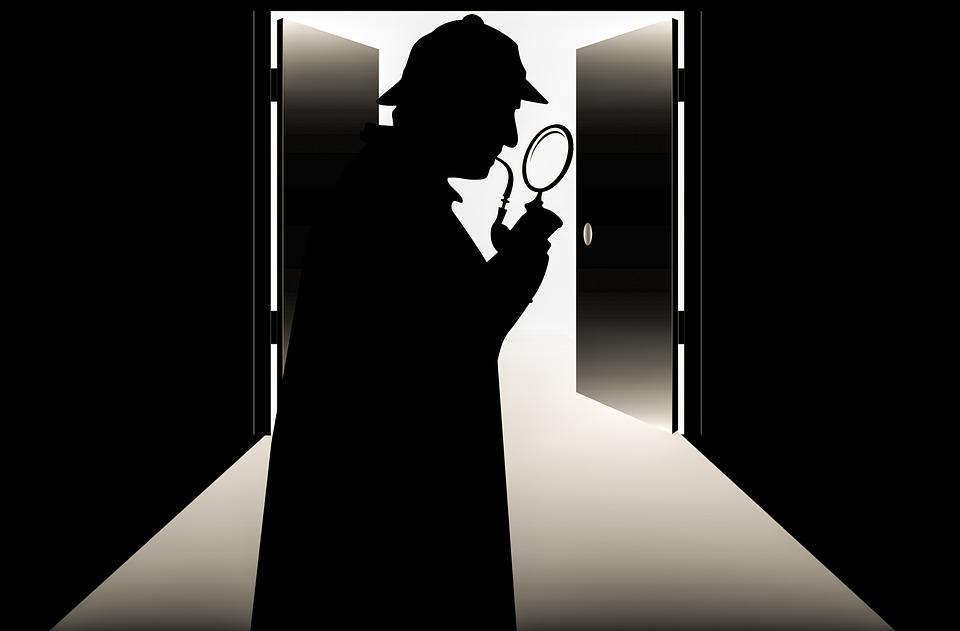 dvere, detektív