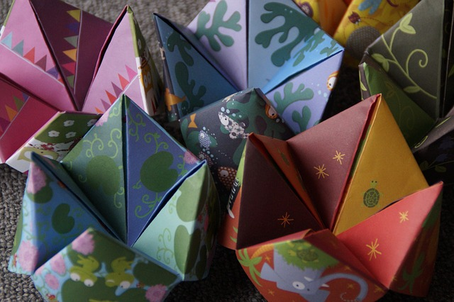 barevné origami