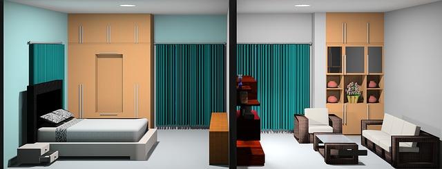 ložnice a obývák