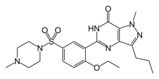 Znak látky Sildenafil v chémii