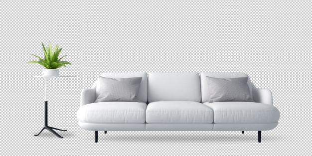 white-sofa-plant-3d-rendering_252032-1